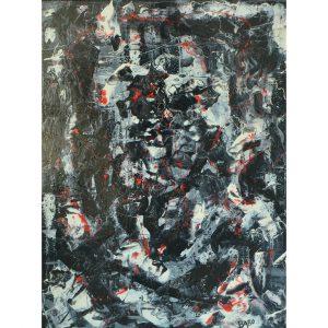 zwart abstract schilderij