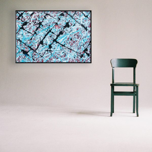 Jackson Pollock stijl schilderij