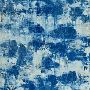 Colour corrosion - An abstract wotk in blue and white tones - B.L.U.U.