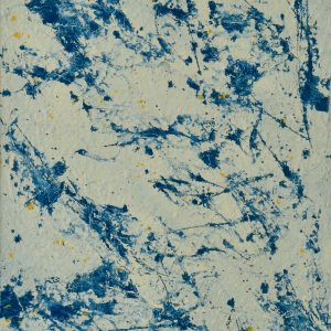 Colour corrosion - an abstract work in typical Dutch porcelain tones -Crackled Dutch -