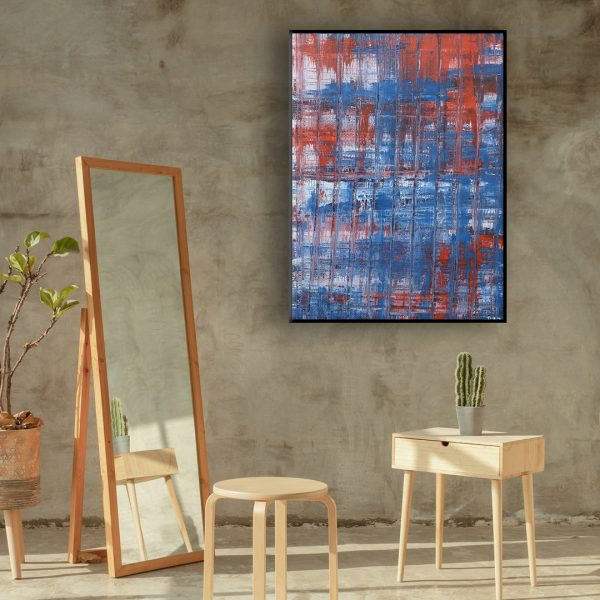 Colour corrosion - an abstract work of a Paris terrace - Paris Terrace