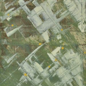Colour corrosion - an abstract work of our world being invaded - Space Invader