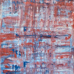 Colour corrosion - an abstract work with corroded colours - Corroded Red