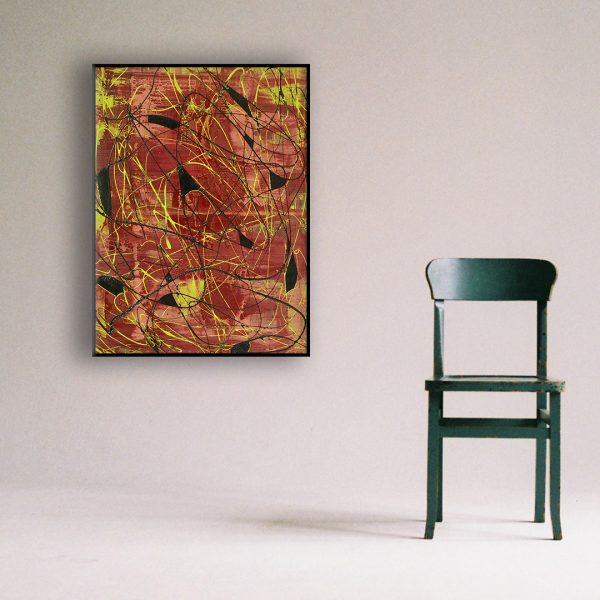 Drip art action painting - An abstract work in bright colours topped off with black - Big Surprise In A Small World