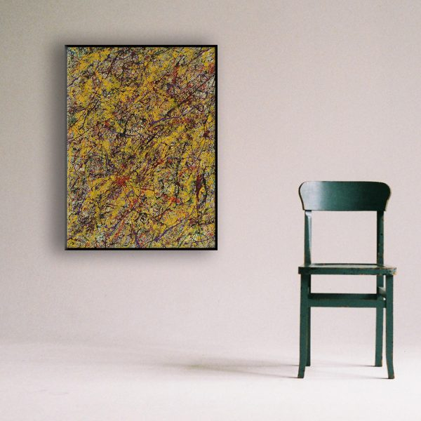 Drip art action painting - An abstract work in typical autumn colours - Autumn Colours
