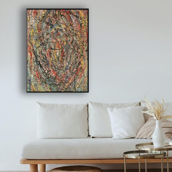 Drip art action painting - an abstract representation of a rose - The Rose