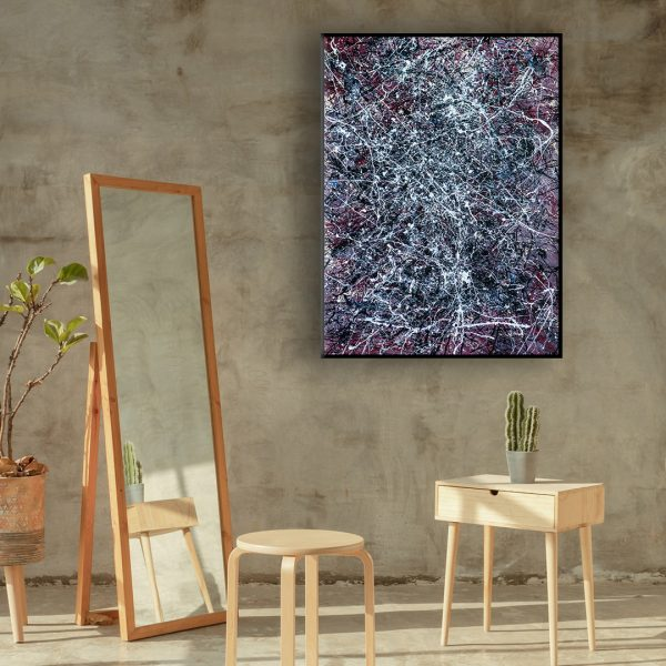 Drip art action painting - an abstract representation of deep space - Deep Space