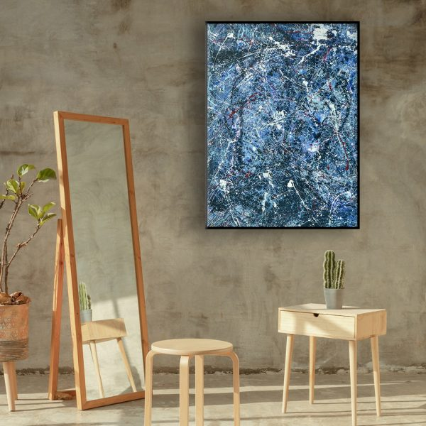 Drip art action painting - an abstract work saying it all - OrdernAnd Chaos