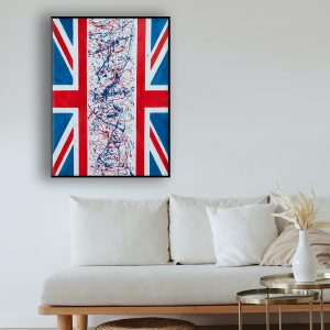 Flags - an abstract representation of Brexit - Divided Union
