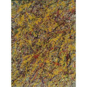 Drip art - warme donkere tinten - herfstkleuren