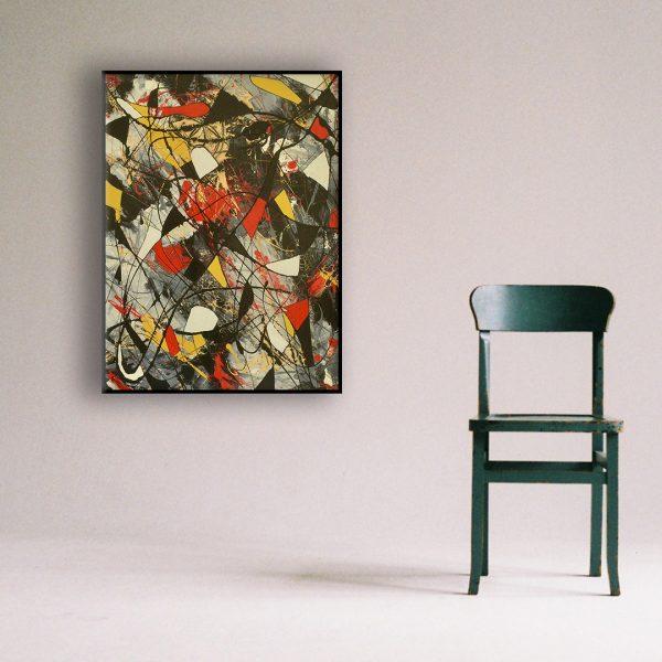 kleurrijk abstract schilderij