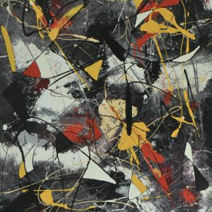 Hybrids - an abstract work using different techniques- Composition With Red And Yellow