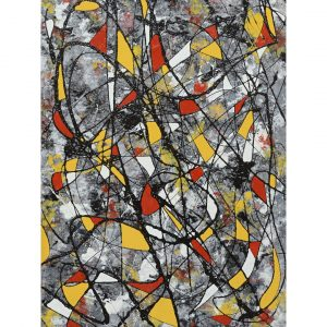Hybrids - freestyle abstract - irregular shapes in red and yellow