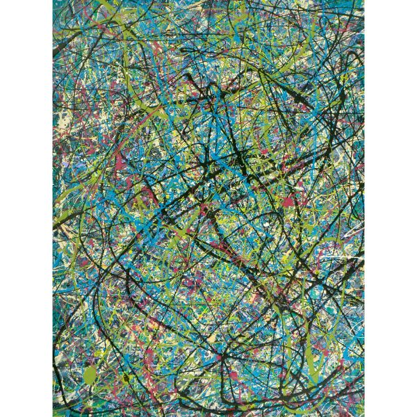 drip art - frisse kleuren abstract werk - Jungle koorts