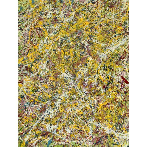 Drip art - geel en wit verdund - Kuba