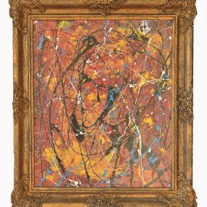 Classic modern - drip art with classic frame