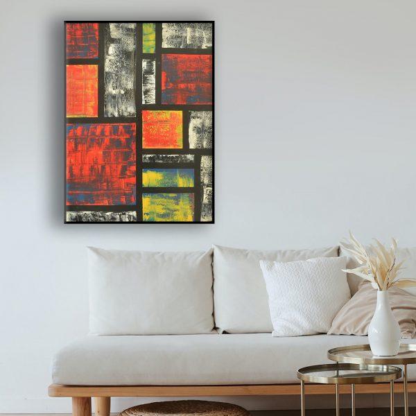 schilderij in expressionistische stijl
