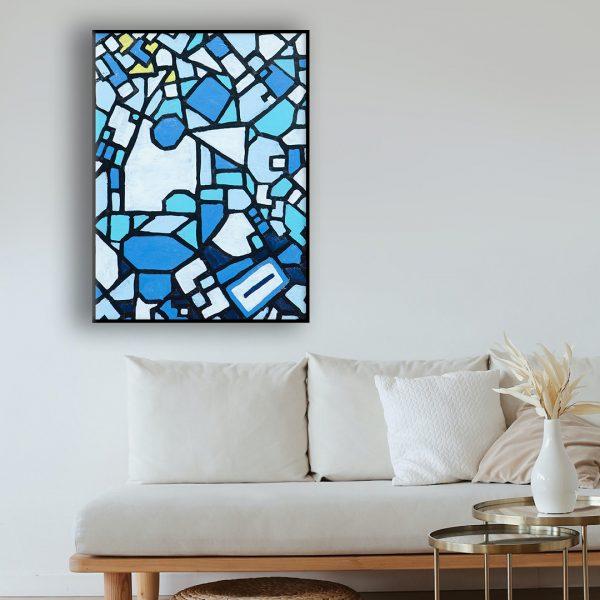 kubistisch schilderij modern