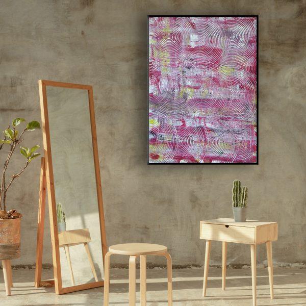 moderne kunst aan de muur