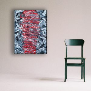 Other -an abstract work on canvas in modern frame - Blizzard