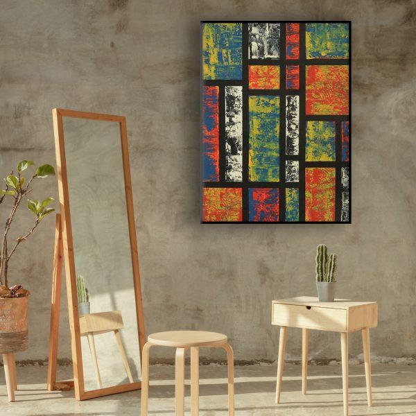 painting in the manner of Mondriaan