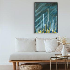 Modern schilderij Arnhem Nijmegen