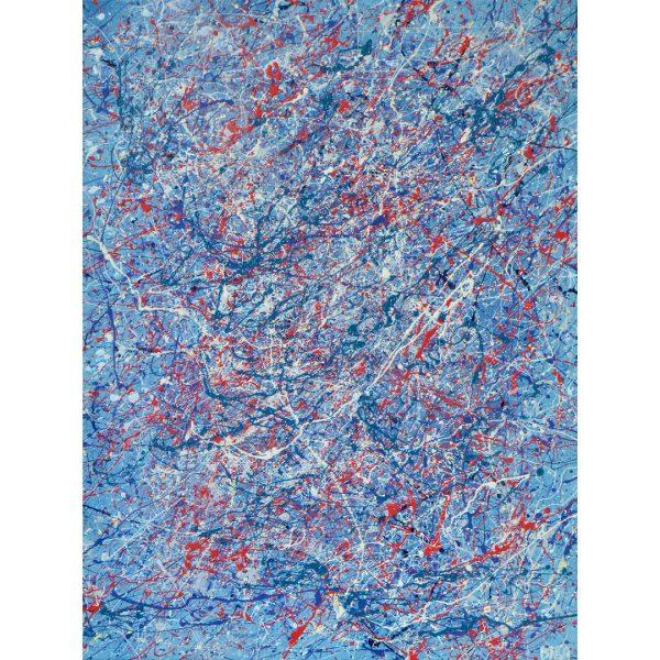Drip art - nationale kleuren rood wit blauw - Spetters en strepen