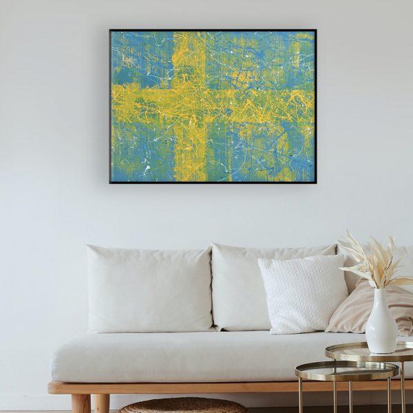 vlaggen als expressionistische kunst