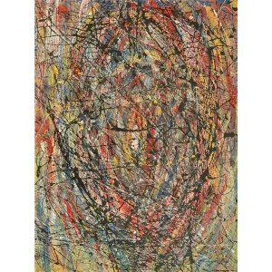 Drip art schilderij
