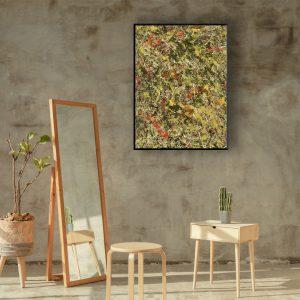 drip art - prachtig sierlijk abstract werk - zwarte tulp