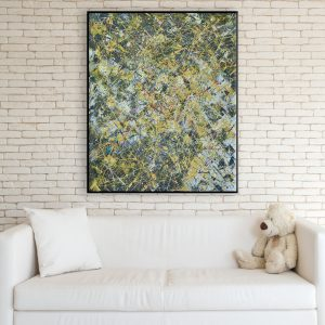 Modern yellow and black painting