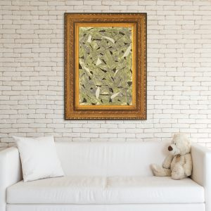 Painting in black and gold frame