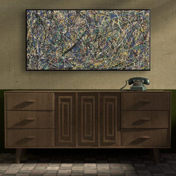 Big abstract painting