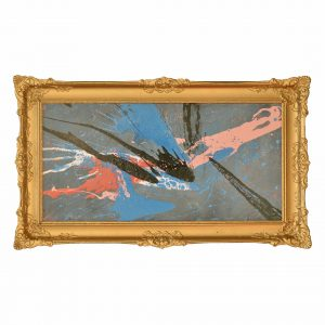 Classic modern - The Higgs Boson - Colourful work with stunning frame
