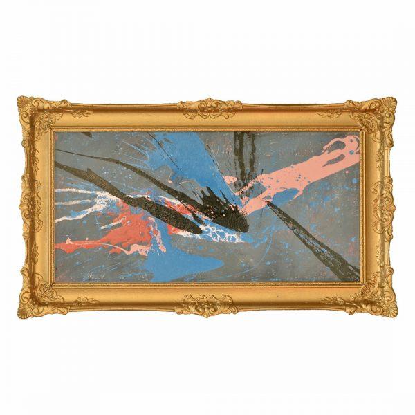 Classic modern - De Higgs Boson - Kleurrijk werk met prachtige lijst -