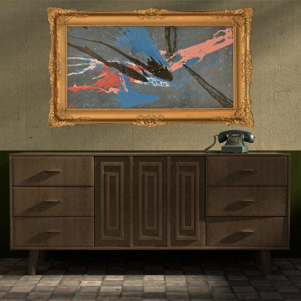dynamisch abstract schilderij