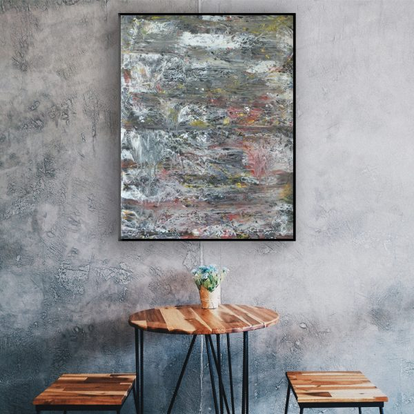 black white painting modern