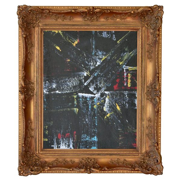 Classic modern- colourful work in classic frame