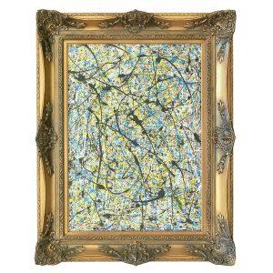 Classic modern - drip art classic frame - Magellanic cloud