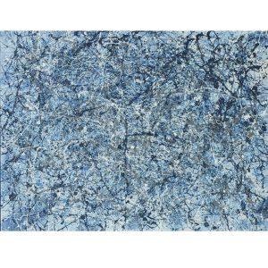 Drip art - blue tones - blue iII