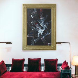Modern schilderij met klassieke lijst