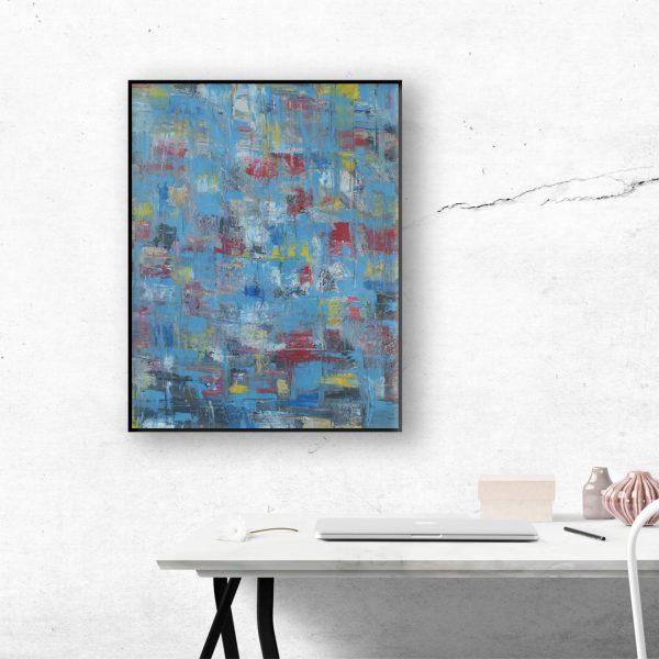 Lightblue modern painting