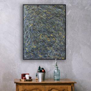 Gooien met verf schilderij