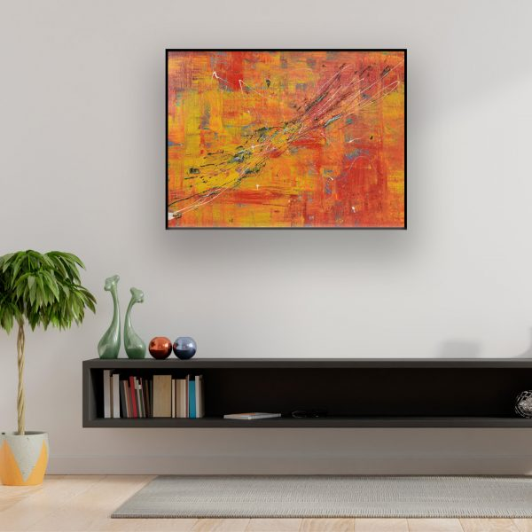 Abstract painting in bright colours