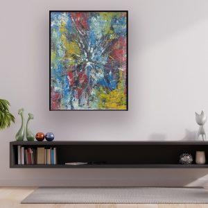 kleurrijke abstracte schilderijen