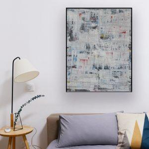 zwart en wit abstract schilderij