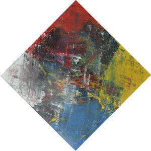 Modern schilderij aan de muur